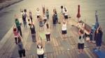 Yoga auf dem Bootshaus-Floß 2015